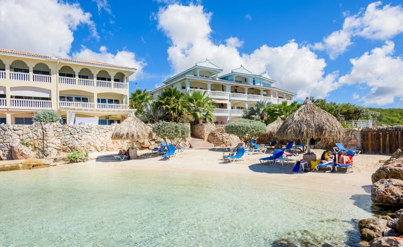 caribbean resort view from the sea