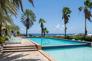 Curacao Luxury Holiday Rentals Located in the Curacao Ocean Resort – Pool with a view